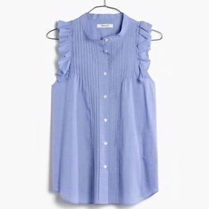 Madewell End-on-End Ruffle Shirt